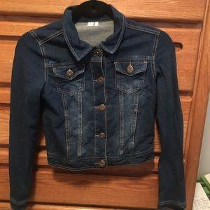 Girls Size 12 Cropped Jean Jacket